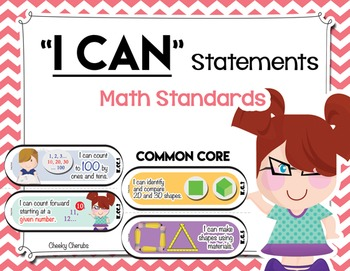 """Common Core - Math Standards """"I Can"""" Statements"""