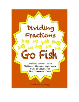 """Common Core Math Stations and Games - Dividing Fractions """""""