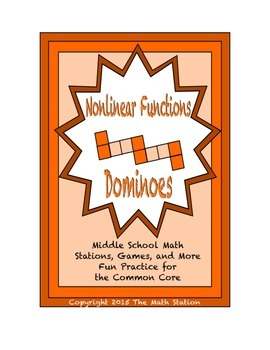"Common Core Math Stations and Games - ""Dominoes"" Nonlinear"