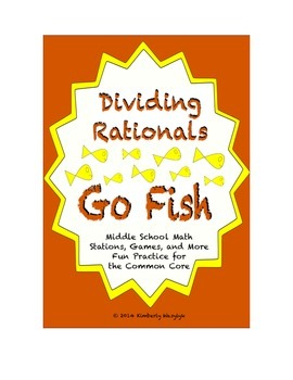 "Common Core Math Stations and Games - ""Go Fish"" Dividing R"