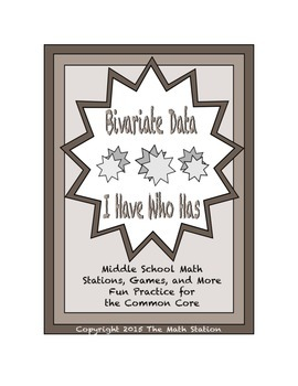 """Common Core Math Stations and Games - """"I Have Who Has"""" Biv"""