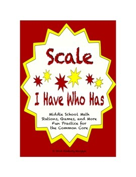 """Common Core Math Stations and Games - """"I Have Who Has"""" Scale"""