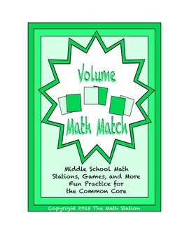 """Common Core Math Stations and Games - """"Math Match"""" Volume"""