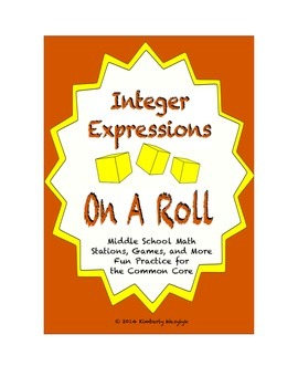 Common Core Math Stations and Games - On a Roll with Integ