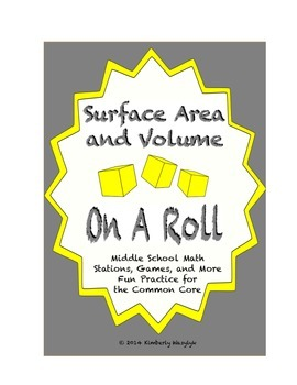 Common Core Math Stations and Games - On a Roll with Surfa