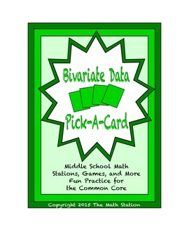 Common Core Math Stations and Games - Pick-a-Card - Bivari