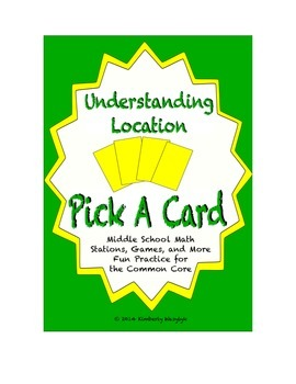 Common Core Math Stations and Games - Pick-a-Card Understa