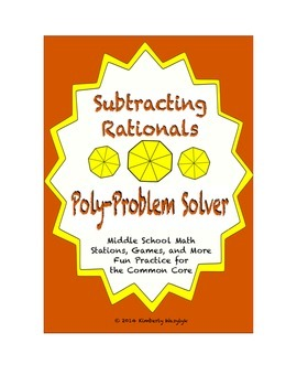 """Common Core Math Stations and Games - """"Poly-Problem-Solver"""