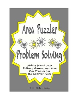 Common Core Math Stations and Games - Problem-Solving Area