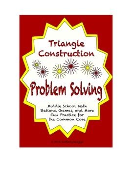 Common Core Math Stations and Games - Problem-Solving & Ge