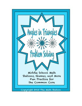 Common Core Math Stations and Games - Problem-Solving wih Angles