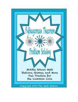 Common Core Math Stations and Games - Problem-Solving The