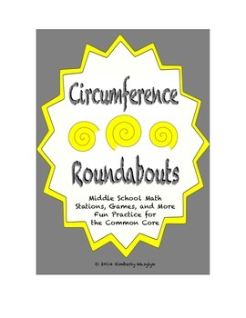 "Common Core Math Stations and Games - ""Roundabouts"" Circumference"