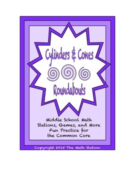 """Common Core Math Stations and Games - """"Roundabouts"""" Cylind"""