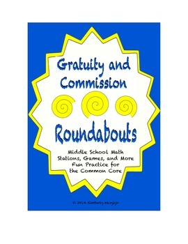 "Common Core Math Stations and Games - ""Roundabouts"" Gratui"