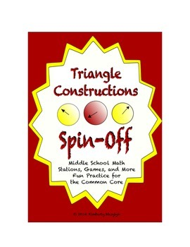 """Common Core Math Stations and Games - """"Spin Off"""" Triangle"""