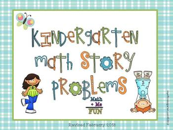 Common Core Math Story Problems Set 1, K/1st grade, 45 pages