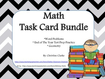 Common Core Math Task Card Bundle- 4th grade