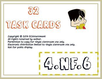 Common Core Math Task Cards-4.NBT.6.:  Decimal Notations f
