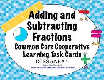 Common Core Math Task Cards (5th Grade): Adding & Subtract