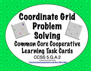 Common Core Math Task Cards (5th Grade): Coordinate Grid P