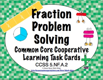Common Core Math Task Cards (5th Grade): Fraction Problem