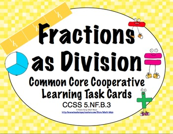 Common Core Math Task Cards (5th Grade): Fractions as Divi