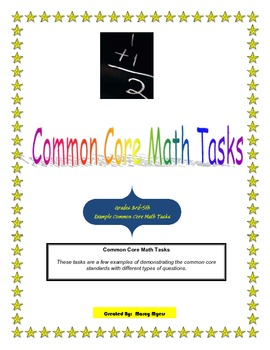Common Core Math Tasks