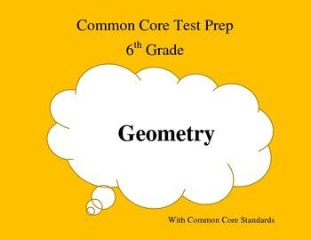 Common Core Math Test Prep 6th Grade Geometry (PARCC)