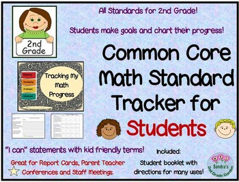 Common Core Math: Tracking Progress Booklet for Students -