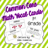 Common Core Math Vocabulary Cards: Grade 1