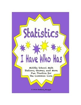 Common Core Math Stations and Games - Statistics and Proba