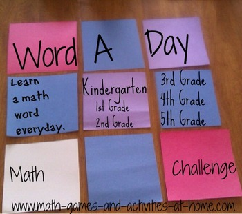 Common Core Math Vocabulary in Real Life: The 3-5 Word A D