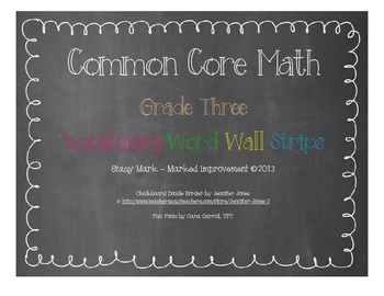 Common Core Math Word Wall Cards - Third Grade