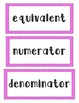Common Core Math Word Wall Vocabulary Fourth Grade