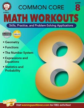 Common Core Math Workouts Grade 8 20% OFF! 404222