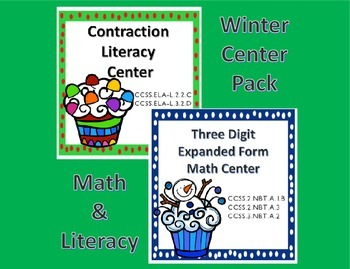 Math and Literacy Center Common Core Pack for Second and T