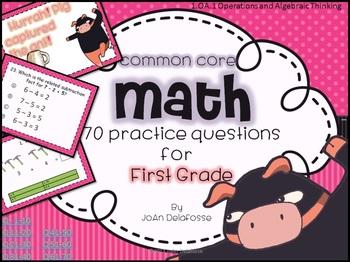 Common Core Math for FIRST GRADE 1.OA.1 70 Ninja practice