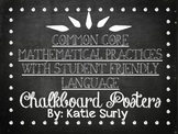 Common Core Mathematical Practices- Chalkboard Posters wit