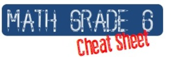 Common Core Mathematics Standards Grade 6 Cheat Sheet