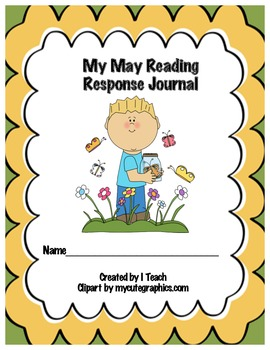 Common Core May Reading Response Journal