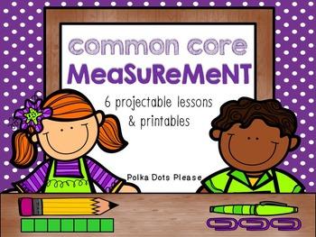 Common Core Measurement Projectable Lessons &