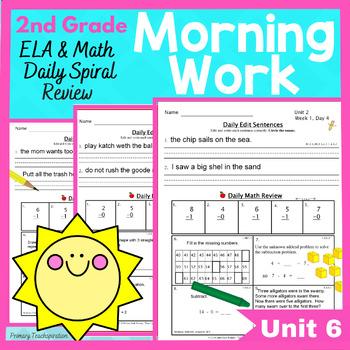 Common Core Morning Work - Grade 2  (Unit 6) ~ A Daily ELA