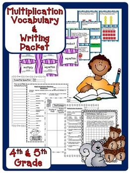 Multiplication Vocabulary Packet