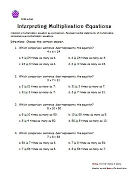 Common Core Multiplication