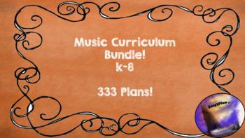 Common Core Music Curriculum 1-8 Bundled