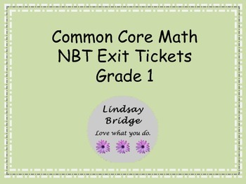 Common Core NBT Exit Tickets Bundle