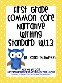 Common Core Narrative Writing Standards