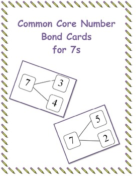 Common Core Number Bond Cards for 7s