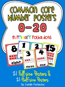 Common Core Number Posters: Full Size & Half Size {Primary